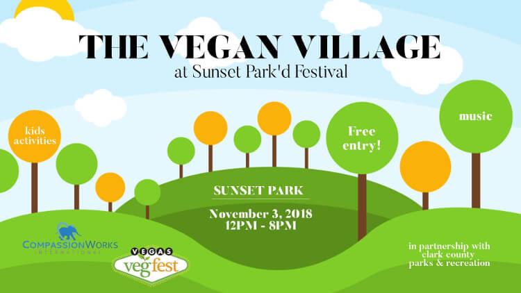 Vegan Village at Sunset Park'd Festival November, 3rd 2018