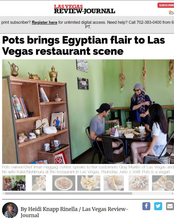 Las Vegas Review-Journal Article - Vegan, vegetarian restaurants popping up in Las Vegas Valley