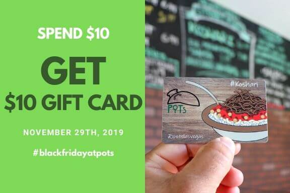 Black Friday Deal - Spend $10 Get A $10 Gift Card