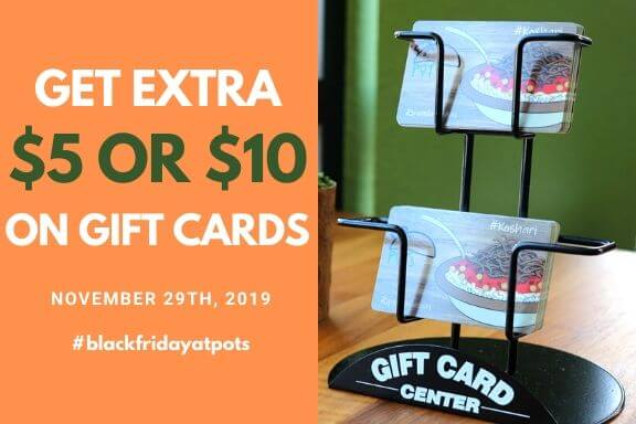 Black Friday Deal - Get Extra $5 or $10 on Gift Cards