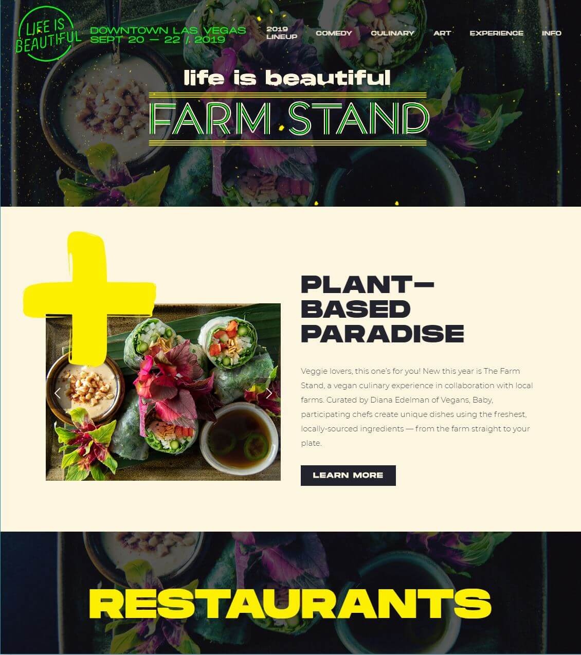 Life Is Beautiful 2019 - PLANT-BASED PARADISE